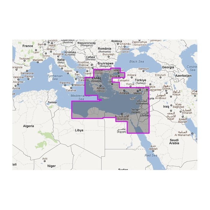 WVNEM34MAP - Mediterranean Sea East WVNEM34MAP - Mediterranean Sea East