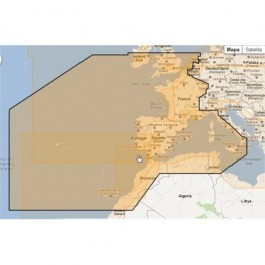 MWVJEWM010MAP-West European Coasts and West Med.