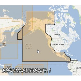 MWVJNAM035MAP-Pacific Coast and Central America