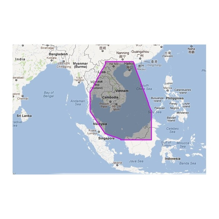 WVJASM201MAP-Gulf of Thailand to Hainan Dao WVJASM201MAP-Gulf of Thailand to Hainan Dao