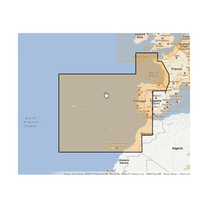 WVJEWM228MAP-West European Coasts WVJEWM228MAP-West European Coasts
