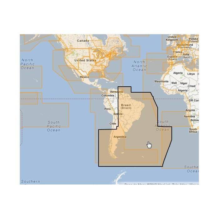 WVJSAM501MAP-Gulf of Paria to Cape Horn WVJSAM501MAP-Gulf of Paria to Cape Horn