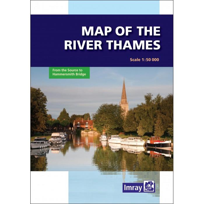 Map of The River Thames Map of The River Thames