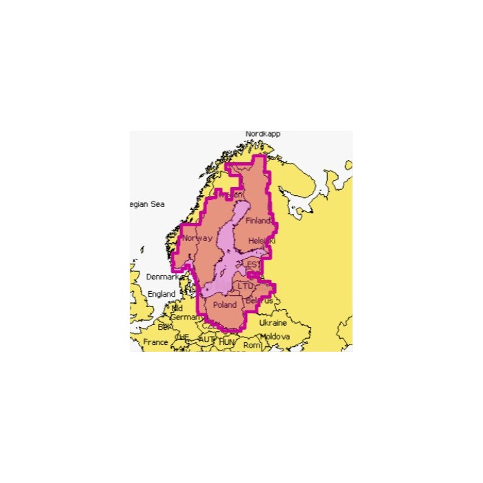 Mapa Navionics+ 44XG BALTIC SEA SD/MSD Mapa wektorowa 44XG BALTIC SEA Gold SD/MSD
