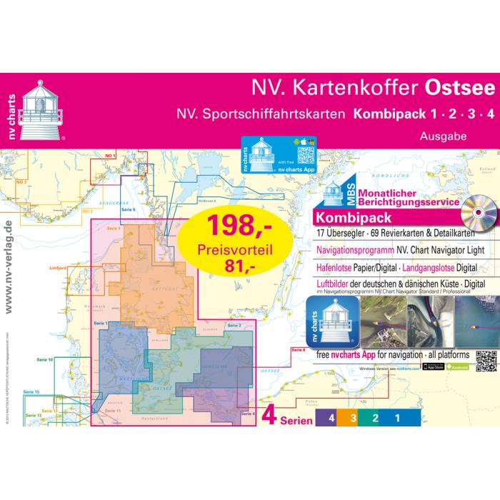 NV. Kartenkoffer Ostsee, Serie1-4 Europe - Baltic Sea, Paper+CD, 2012 NV. Kartenkoffer Ostsee, Serie1-4 Europe - Baltic Sea, Paper+CD, 2012