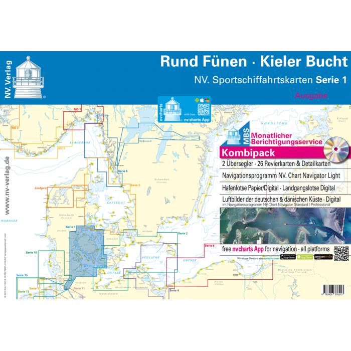 NV. Serie 1, Rund Fünen - Kieler Bucht* Europe - Baltic Sea, Paper+CD, 2012 NV. Serie 1, Rund Fünen - Kieler Bucht* Europe - Baltic Sea, Paper+CD, 2012