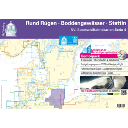 NV. Serie 4, Rund Rügen - Boddengewässer - Stettin* Europe - Baltic Sea, Paper+CD, 2012