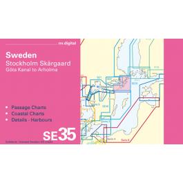 SE35, Sweden, Stockholm Skärgaard, Götakanal to Arholma Europe - Baltic Sea, CD, 2012