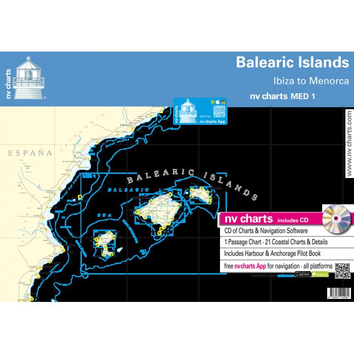 nv-charts MED1, Balearic Islands* Europe - Atlantic, Mediterranean,  Paper+ download nv-charts MED1, Balearic Islands* Europe - Atlantic, Mediterranean, Paper+CD, 2009