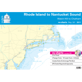 nv-charts Region 3.1, Rhode Island to Nantucket Sound* America - US East Coast, Paper+CD, 2011