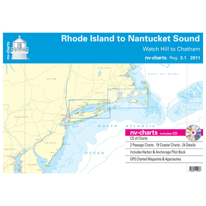 nv-charts Region 3.1, Rhode Island to Nantucket Sound* America - US East Coast, Paper+CD, 2011 nv-charts Region 3.1, Rhode Island to Nantucket Sound* America - US East Coast, Paper+CD, 2011
