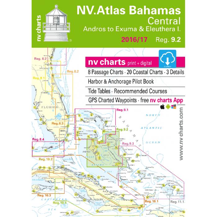 nv-charts Region 9.2, Central Bahamas* America - Bahamas, Caribbean,  Paper+ download nv-charts Region 9.2, Central Bahamas* America - Bahamas, Caribbean, Paper+CD, 2011