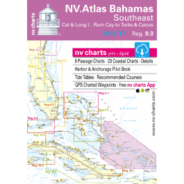 nv-charts Region 9.3, South East Bahamas* America - Bahamas, Caribbean, Paper+CD, 2011
