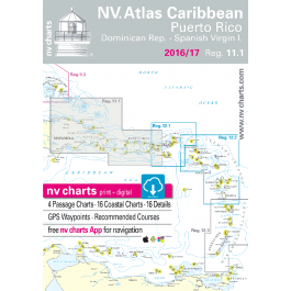 nv-charts Region 11, Puerto Rico and the US Virgin Islands* America - Bahamas, Caribbean, Paper+CD, 2008