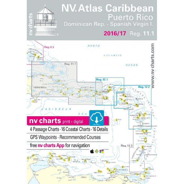 nv-charts Region 11.1, Puerto Rico and the US Virgin Islands* America - Bahamas, Caribbean,  Paper+ download nv-charts Region 11, Puerto Rico and the US Virgin Islands* America - Bahamas, Caribbean, Paper+CD, 2008