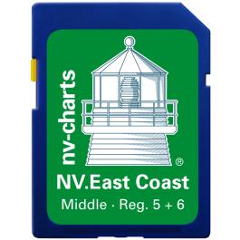 NV. US East Coast Middle & Bermuda - Karten & Hafenpläne Reg. 5.1, 5.2, 6.1, 6.2, und 16.1