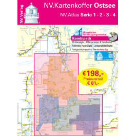 NV. Atlas Kartenkoffer Ostsee 1-4