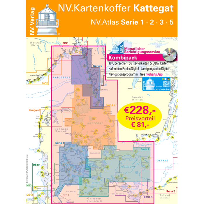 NV. Atlas Kartenkoffer Kattegat NV. Atlas Kartenkoffer Kattegat