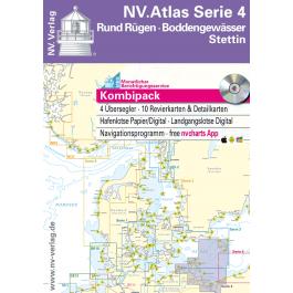 NV. Atlas Serie 4, Rund Rügen - Boddengewässer - Stettin*