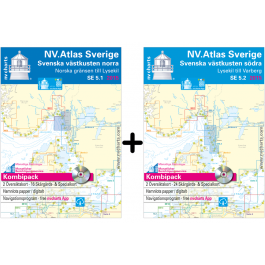 NV. Atlas Sverige SE 5.1 + 5.2 - Svenska Västkusten Norra & Södra