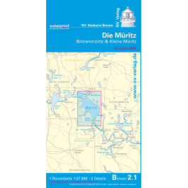 NV. Waterproof Faltkarte B2.1, Die Müritz