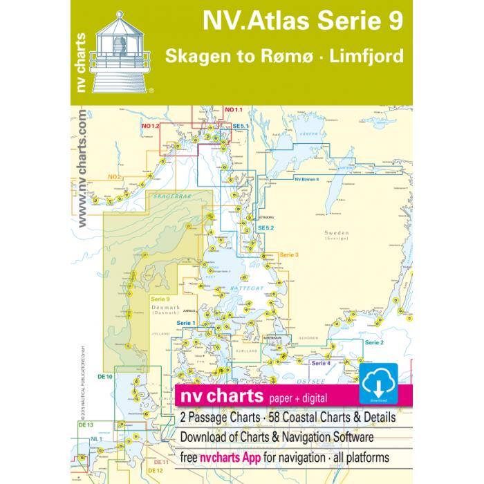 NV. Atllas Serie 9 - Skagen to R? m? & Limfjord NV. Atllas Serie 9 - Skagen to Rømø & Limfjord