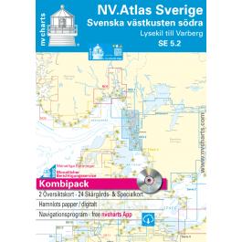 NV. Atlas Sverige SE 5.1 + 5.2 - Svenska V? stkusten Norra & S? dra NV. Atlas Sverige SE 5.1 + 5.2 - Svenska Västkusten Norra & Södra