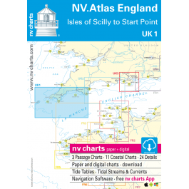 UK 1 - NV. Atlas England - Scilly Isles to Star Point