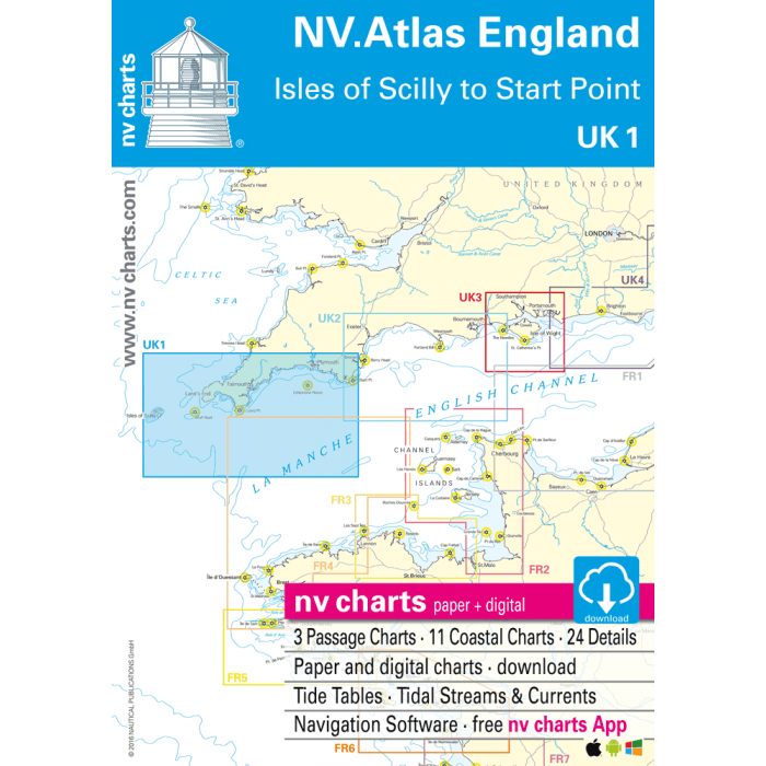 UK 1 - NV. Atlas England - Scilly Isles to Star Point UK 1 - NV. Atlas England - Scilly Isles to Star Point