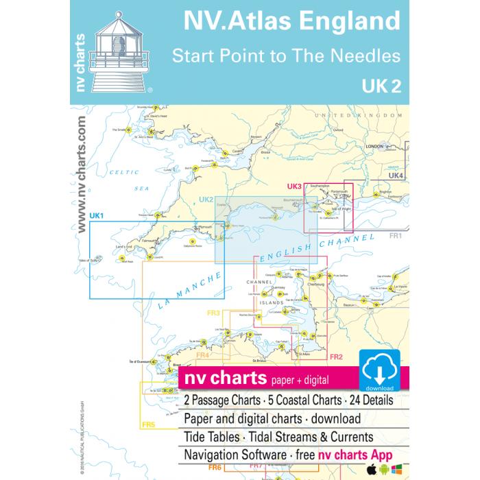 UK 2 - NV. Atlas England - Start Point to The Needles UK 2 - NV. Atlas England - Start Point to The Needles