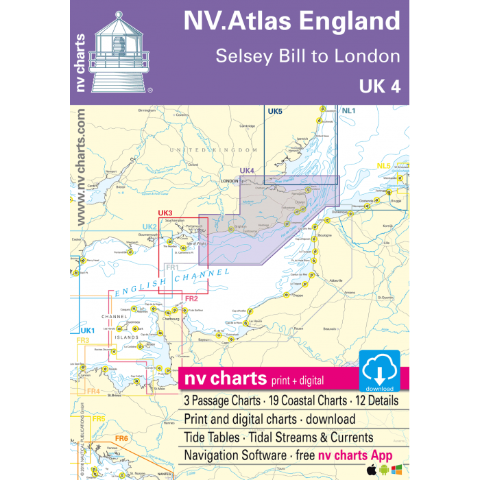 UK 4 - NV. Atlas England - Selsey Bill to R. Thames UK 4 - NV. Atlas England - Selsey Bill to R. Thames