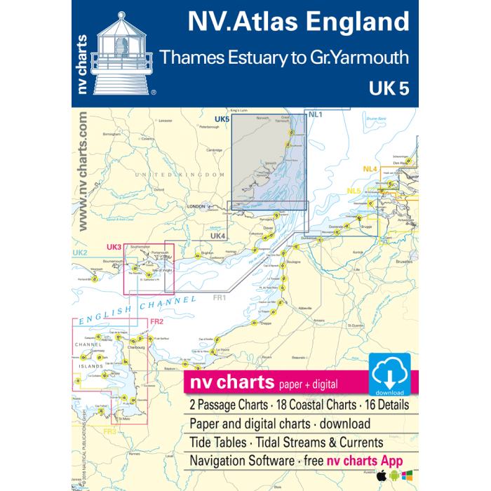 UK 5 - NV. Atlas England - R. Thames to Great Yarmouth UK 5 - NV. Atlas England - R. Thames to Great Yarmouth