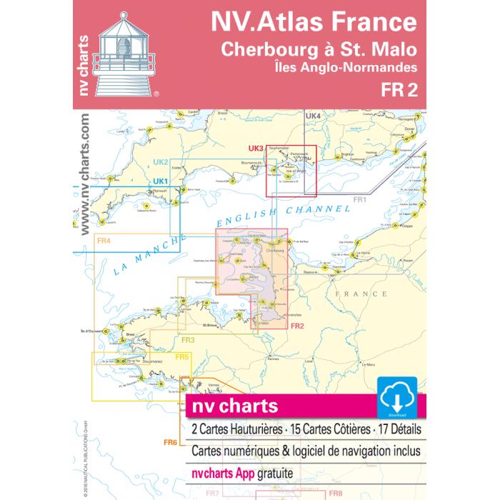 FR 2 - NV. Atlas France - Cherbourg ? St. Malo FR 2 - NV. Atlas France - Cherbourg à St. Malo