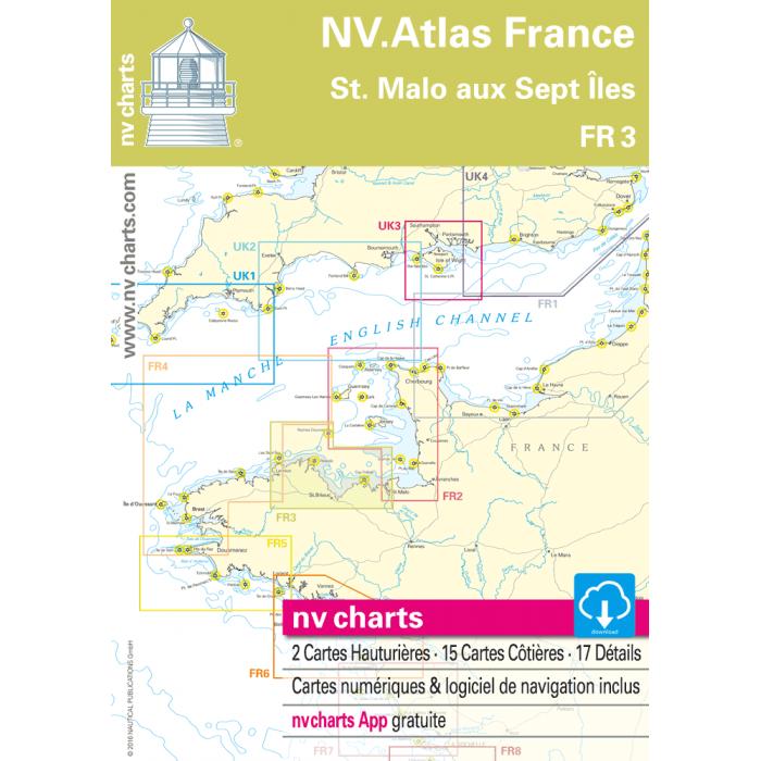 FR 3 - NV. Atlas France - St. Malo ? Les Sept ? les FR 3 - NV. Atlas France - St. Malo à Les Sept Îles