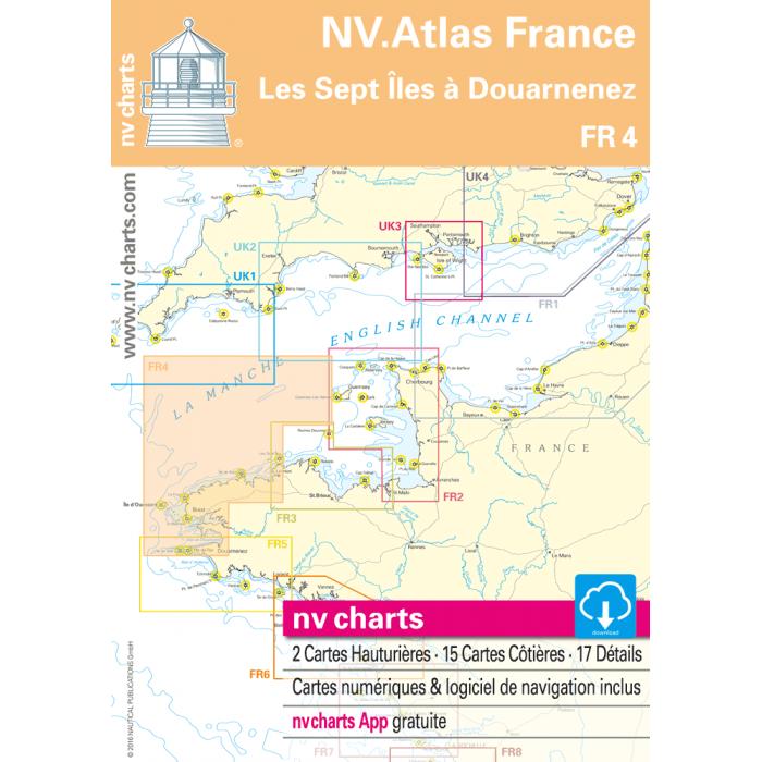 FR 4 - NV. Atlas France - Les Sept ? les ? Douarnenez FR 4 - NV. Atlas France - Les Sept Îles à Douarnenez