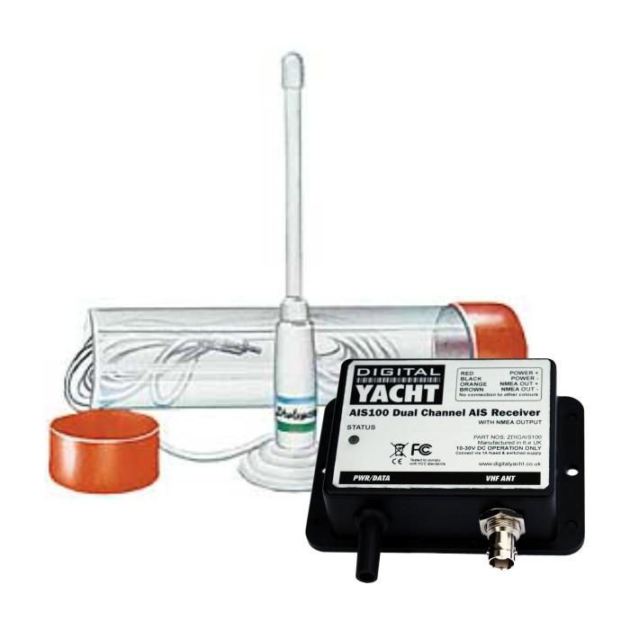 Dwukanałowy odbiornik AIS (USB) dostarczany z anteną Dwukanałowy odbiornik AIS